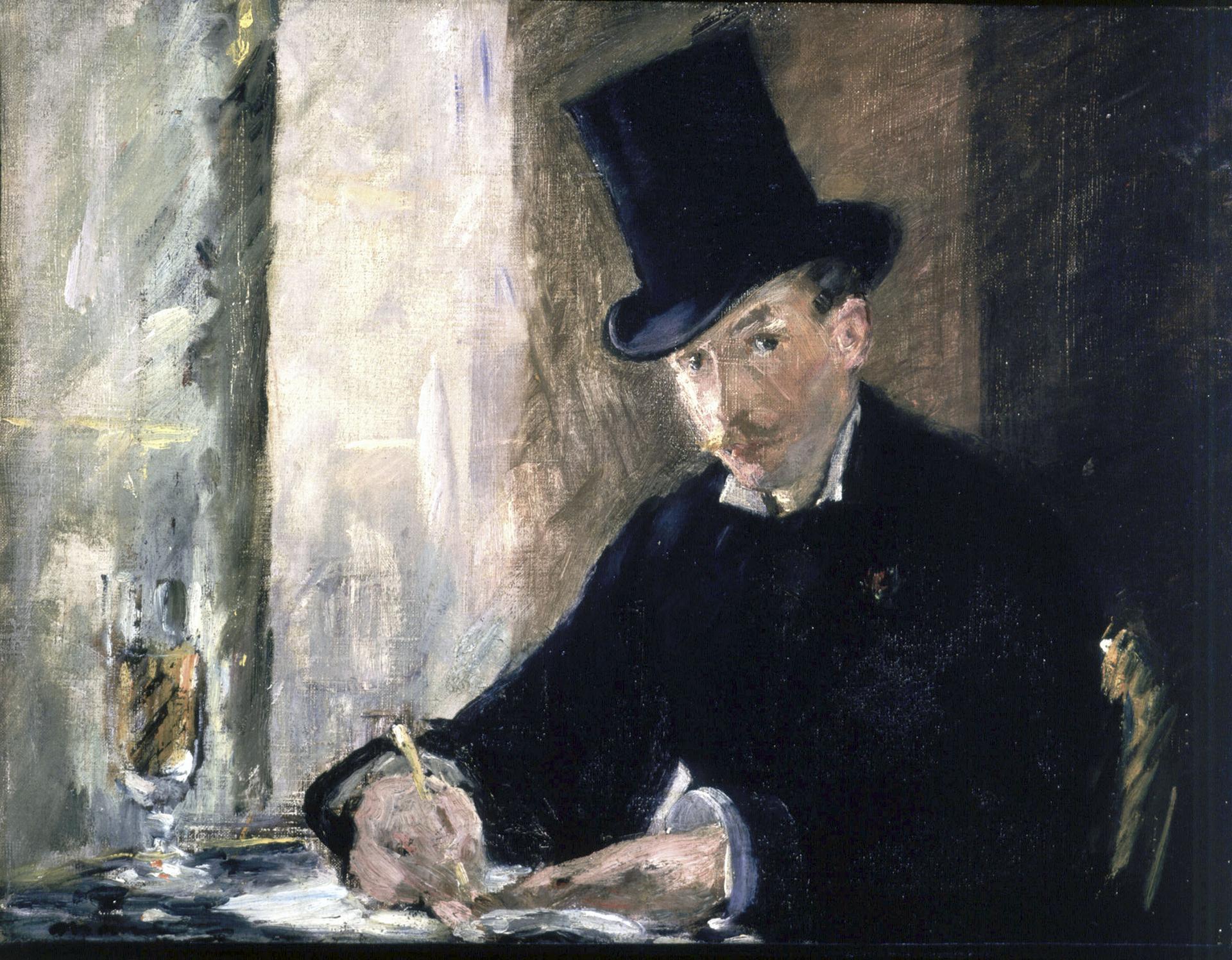 """""""Chez Tortoni"""" by Manet."""